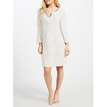 Buy John Lewis Embellished Cotton Kaftan, White Online at johnlewis.com