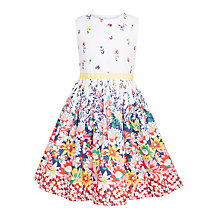 Buy John Lewis Girls' Border Print Floral Dress, Multi Online at johnlewis.com