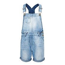 Buy John Lewis Girls' Denim Dungarees, Blue Online at johnlewis.com