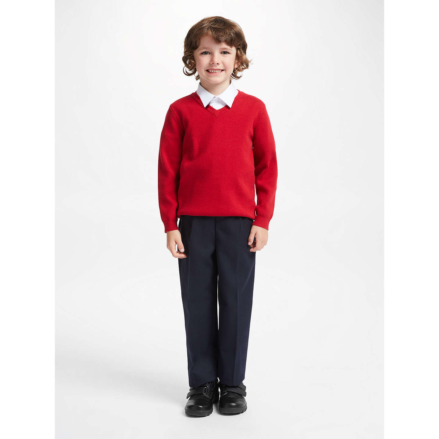 BuyJohn Lewis Boys' Regular Fit Easy Care School Trousers, Navy, 3 yrs Online at johnlewis.com
