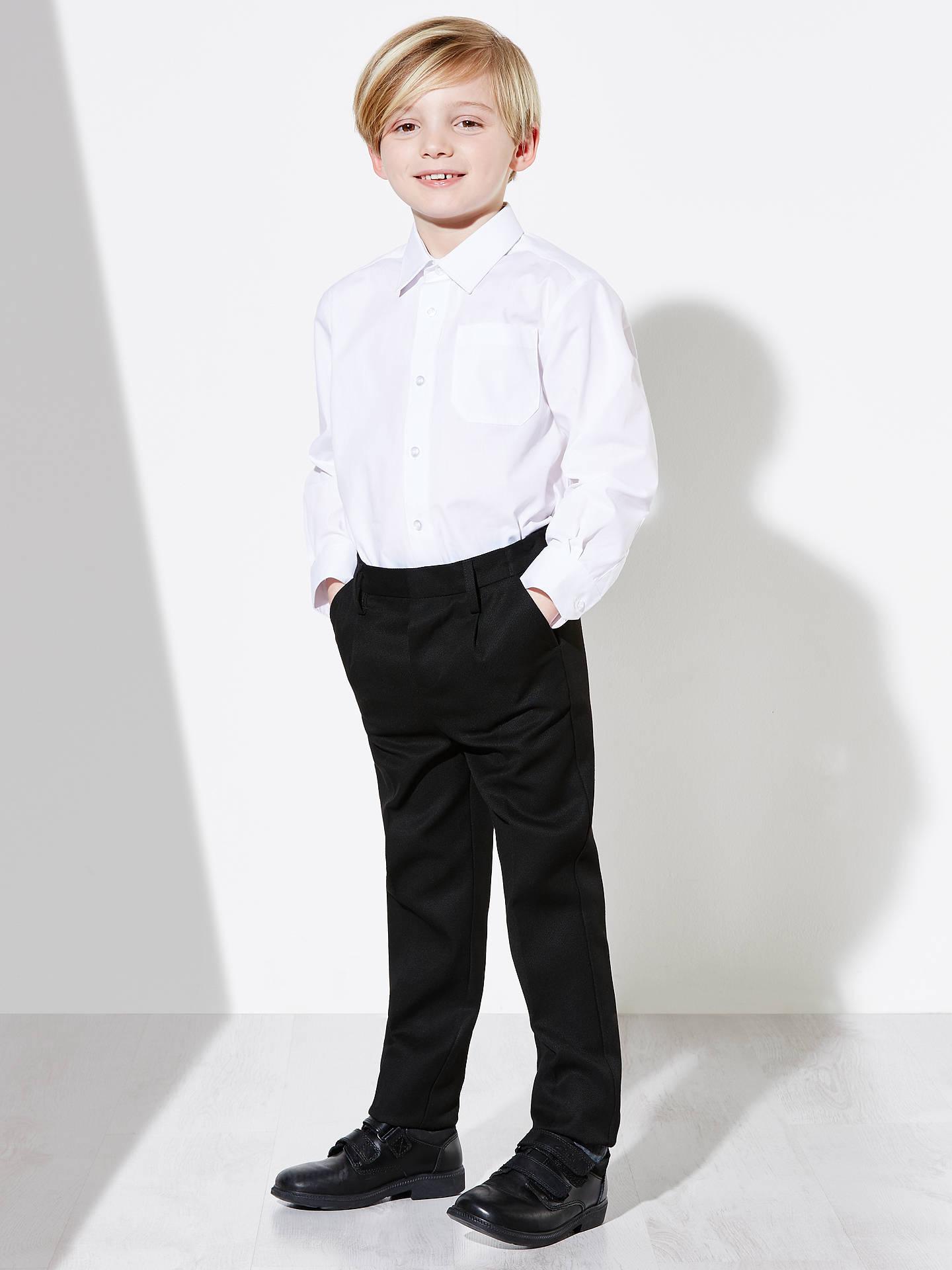 John Lewis Boys/' Long Sleeve School Shirt Teflon Shield Pro+ Pack of 2 White