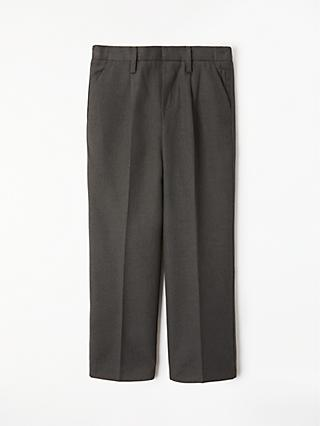 John Lewis & Partners Boys' Easy Care Adjustable Waist Generous Fit School Trousers