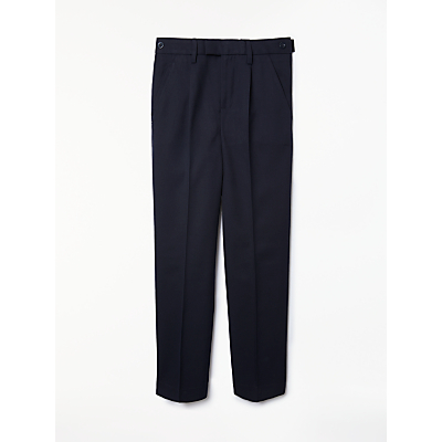 John Lewis Boys' Easy Care Adjustable Waist Tailored Fit School Trousers, Regular Length