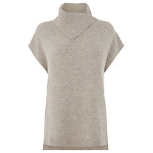 Buy Warehouse Split Neck Boucle Jumper, Beige Online at johnlewis.com