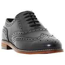 Buy Dune Fion Lace Up Brogues, Black Online at johnlewis.com