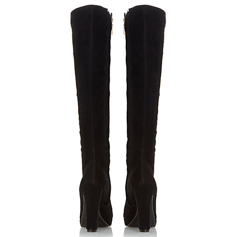 Buy Dune Saylor Knee High Boots, Black Online at johnlewis.com