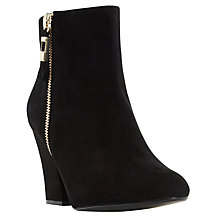 Buy Dune Orley Block Heeled Ankle Boots, Black Online at johnlewis.com