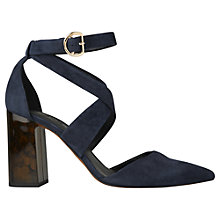 Buy Whistles Taylor Cross Strap Block Heeled Court Shoes Online at johnlewis.com