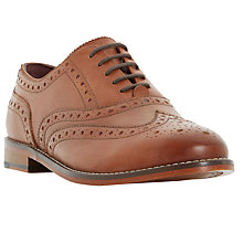 Buy Dune Fion Lace Up Brogues, Brown Online at johnlewis.com