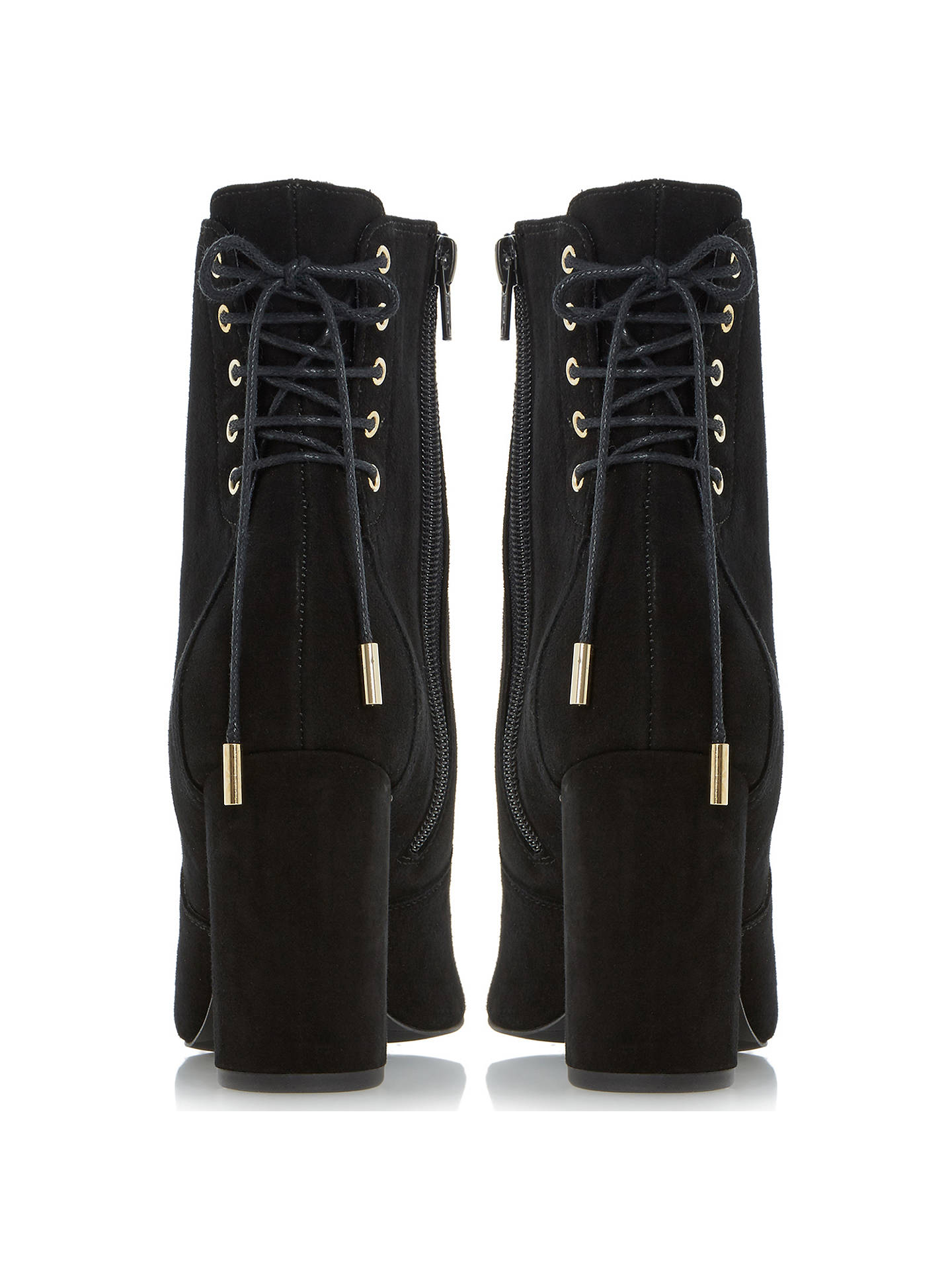 BuyDune Octagon Block Heeled Ankle Boots, Black, 5 Online at johnlewis.com