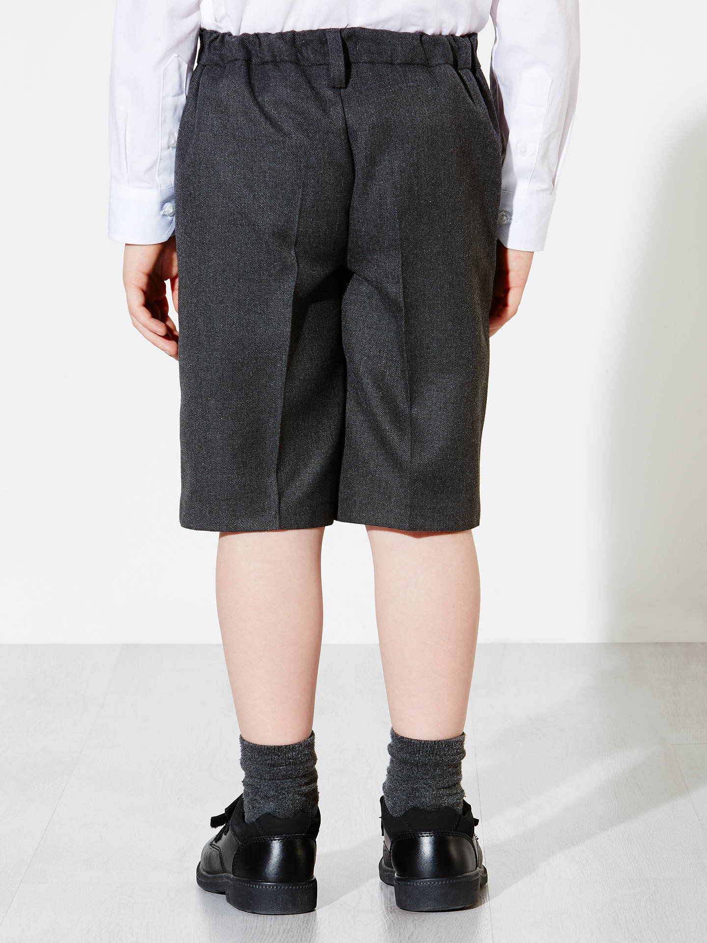 Buy John Lewis & Partners Boys' Bermuda Length School Shorts, Grey, 10 years Online at johnlewis.com