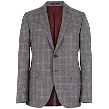 Buy Jaeger Prince of Wales Slim Blazer, Grey Online at johnlewis.com