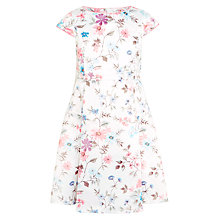Buy John Lewis Heirloom Collection Girls' Floral Print Dress, White Online at johnlewis.com