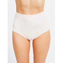 Buy John Lewis 5 Pack Printed Full Briefs, Peach/Multi Online at johnlewis.com
