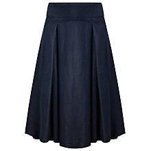 Buy Phase Eight Caria Chambray Box Pleated Skirt, Blue Online at johnlewis.com