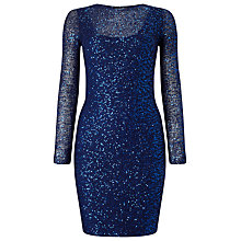 Buy Phase Eight Juana Sequined Dress, Cobalt Online at johnlewis.com
