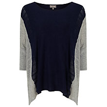 Buy Phase Eight Contessa Colour Block Knit Top, Navy/Grey Online at johnlewis.com