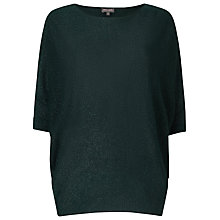 Buy Phase Eight Shimmer Becca Batwing Jumper, Forest Online at johnlewis.com