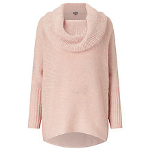 Buy Phase Eight Chunky Lila Cowl Jumper, Soft Pink Online at johnlewis.com