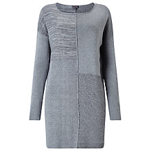 Buy Phase Eight Henri Patched Knitted Tunic, Grey Online at johnlewis.com