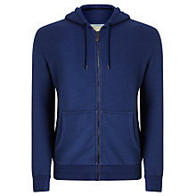 Buy JOHN LEWIS & Co. Loopback Cotton Hoodie, Indigo Online at johnlewis.com