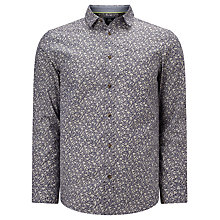 Buy John Lewis Tweet Floral Print Shirt, Navy Online at johnlewis.com