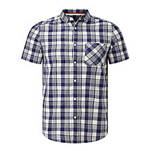Buy John Lewis Tonal Check Short Sleeve Shirt, Navy Online at johnlewis.com