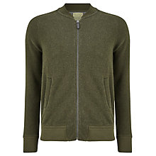 Buy JOHN LEWIS & Co. Wool Blend Jersey Bomber Jacket, Khaki Online at johnlewis.com