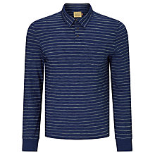 Buy JOHN LEWIS & Co. Stripe Long Sleeve Polo Shirt, Indigo Online at johnlewis.com