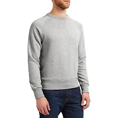 JOHN LEWIS & Co. Loopback Cotton Sweatshirt, Grey Marl