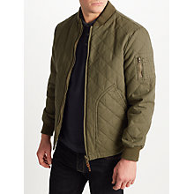 Buy JOHN LEWIS & Co. Quilted Bomber Jacket, Khaki Online at johnlewis.com