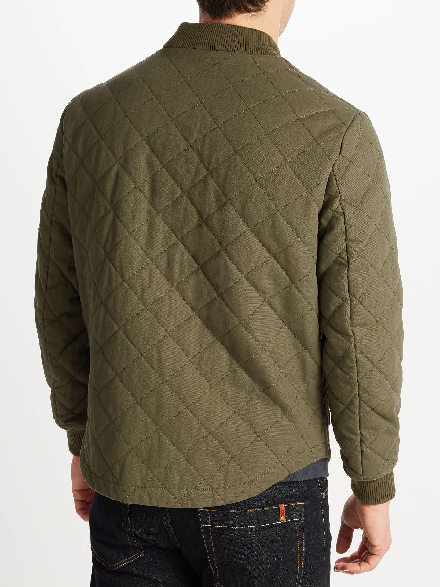 d1584bfa8 JOHN LEWIS & Co. Quilted Bomber Jacket, Khaki at John Lewis & Partners