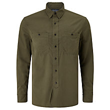 Buy JOHN LEWIS & Co. Cotton Workwear Shirt, Khaki Online at johnlewis.com