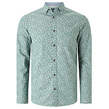 Buy John Lewis Floral Print Shirt, Green Online at johnlewis.com