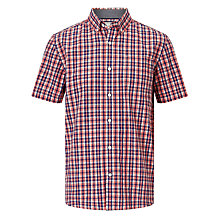 Buy John Lewis Small Multi Gingham Short Sleeve Shirt, Red Online at johnlewis.com
