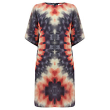 Buy Warehouse Silk Tie Dye Dress, Multi Online at johnlewis.com