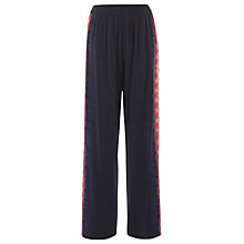 Buy Warehouse Silk Tie Dye Trousers, Navy Online at johnlewis.com