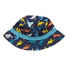 Buy John Lewis Children's Dinosaur Print Bucket Hat, Blue Online at johnlewis.com