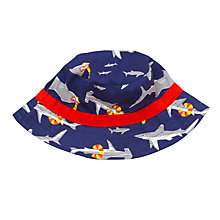 Buy John Lewis Children's Shark Print Bucket Hat, Navy Online at johnlewis.com