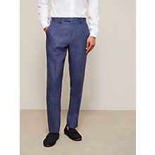 Buy John Lewis Linen Regular Fit Suit Trousers, Indigo Blue Online at johnlewis.com