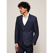Buy John Lewis Linen Regular Fit Suit Jacket, Navy Online at johnlewis.com