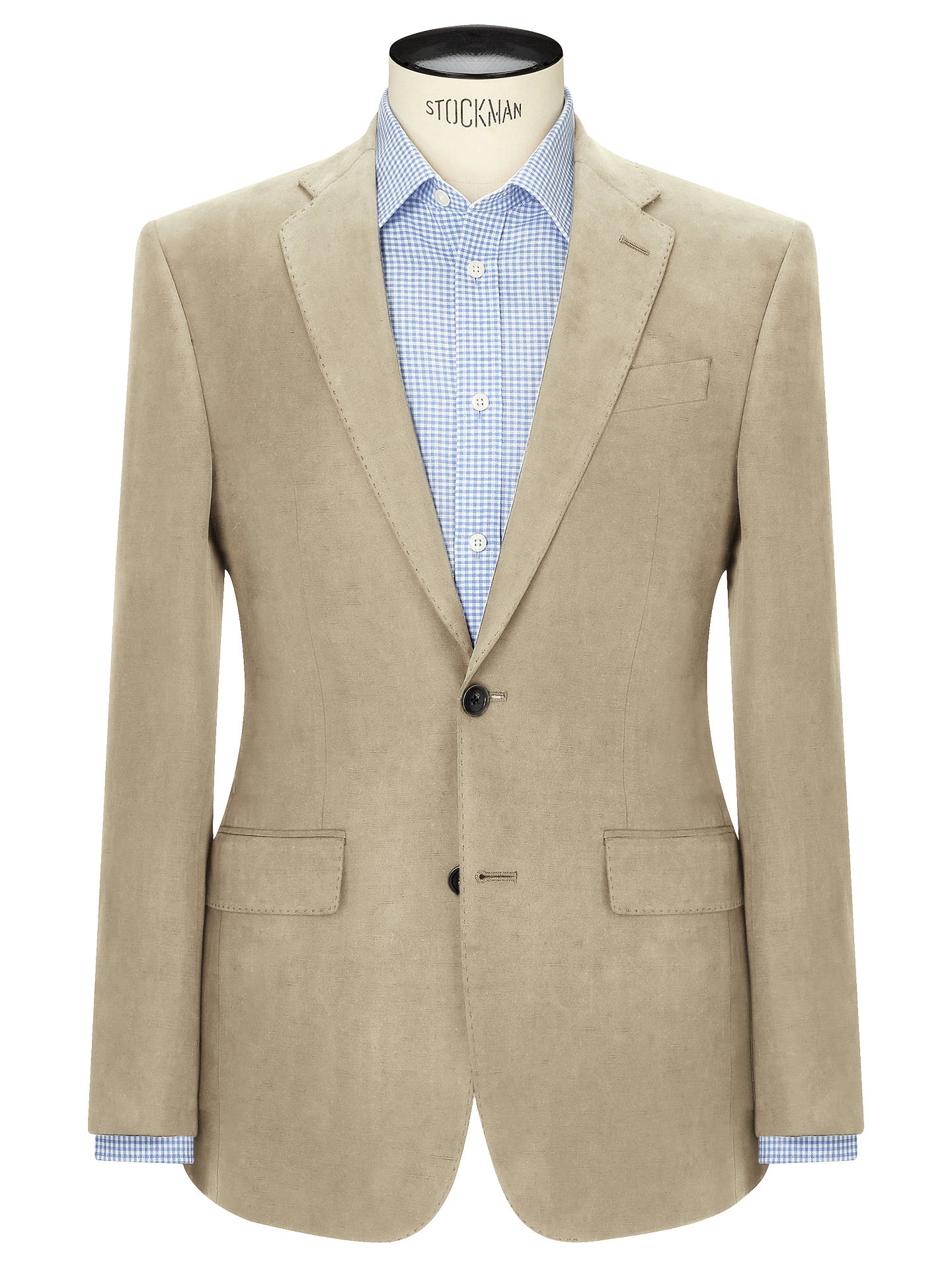 Buy John Lewis & Partners Silk Linen Regular Fit Suit Jacket, Stone, 36R Online at johnlewis.com