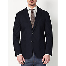 Buy JOHN LEWIS & Co. Morey Cotton Linen Tailored Blazer, Navy Online at johnlewis.com