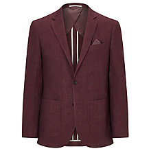Buy John Lewis Textured Pure Linen Tailored Blazer, Raspberry Online at johnlewis.com