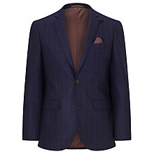 Buy John Lewis Checked Tailored Blazer, Navy Online at johnlewis.com