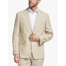 Buy John Lewis Linen Regular Fit Suit Jacket, Stone Online at johnlewis.com