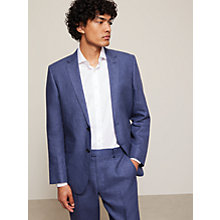 Buy John Lewis Linen Regular Fit Suit Jacket, Indigo Blue Online at johnlewis.com