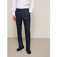 Buy John Lewis Linen Regular Fit Suit Trousers, Navy Online at johnlewis.com