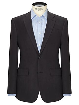 John Lewis & Partners Silk Linen Regular Fit Suit Jacket, Navy