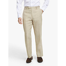 Buy John Lewis Linen Regular Fit Suit Trousers, Stone Online at johnlewis.com